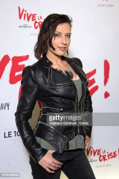 Actress Amel Annoga attends the 'Vive La Crise' Paris Premiere at Cinema Max Linder on May 2 2017 in Paris France