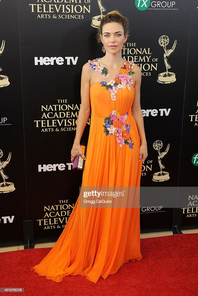 Actress <a gi-track='captionPersonalityLinkClicked' href=/galleries/search?phrase=Amelia+Heinle&family=editorial&specificpeople=3276082 ng-click='$event.stopPropagation()'>Amelia Heinle</a> arrives at the 41st Annual Daytime Emmy Awards at The Beverly Hilton Hotel on June 22, 2014 in Beverly Hills, California.