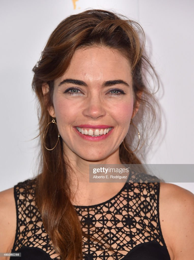 Actress <a gi-track='captionPersonalityLinkClicked' href=/galleries/search?phrase=Amelia+Heinle&family=editorial&specificpeople=3276082 ng-click='$event.stopPropagation()'>Amelia Heinle</a> attends a cocktail reception hosted by the Academy of Television Arts & Sciences celebrating the Daytime Peer Group at Montage Beverly Hills on August 26, 2015 in Beverly Hills, California.