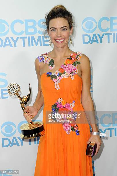Actress Amelia Heinle attends the 41st Annual Daytime Emmy Awards CBS After Party at The Beverly Hilton Hotel on June 22 2014 in Beverly Hills...