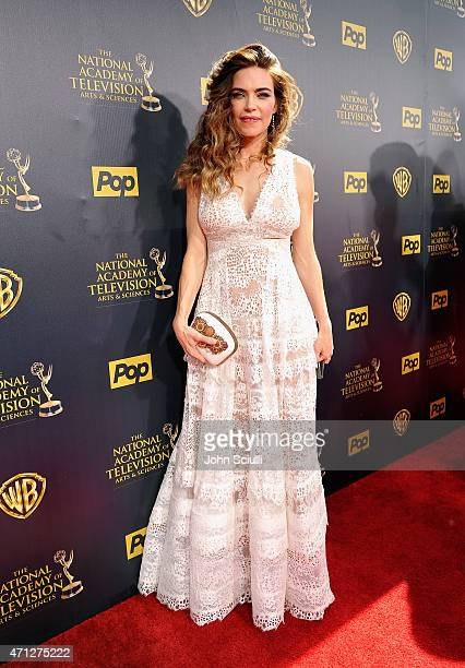 Actress Amelia Heinle attends The 42nd Annual Daytime Emmy Awards at Warner Bros Studios on April 26 2015 in Burbank California