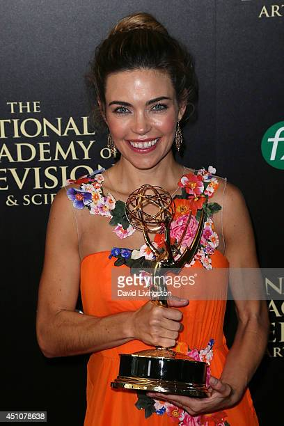 Actress Amelia Heinle attends the press room at the 41st Annual Daytime Emmy Awards at The Beverly Hilton Hotel on June 22 2014 in Beverly Hills...