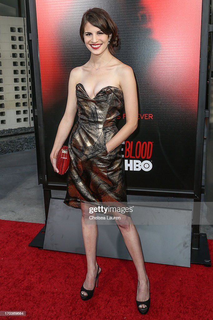 Actress Amelia Rose Blaire arrives at HBO's 'True Blood' season 6 premiere at ArcLight Cinemas Cinerama Dome on June 11, 2013 in Hollywood, California.