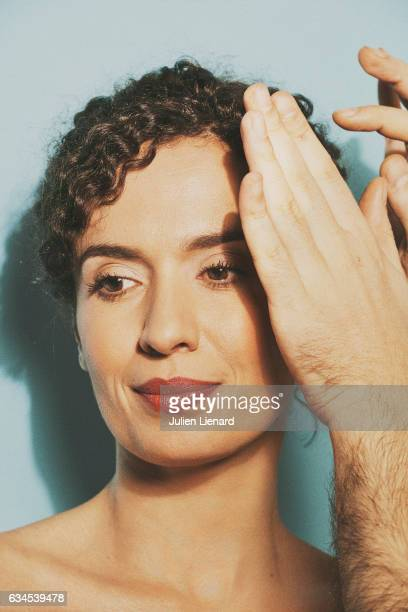 Actress Amelle Chahbi is photographed for Self Assignment on December 5 2016 in Paris France