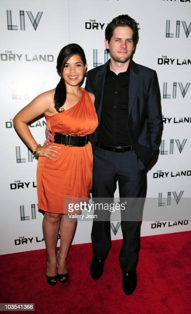 Actress America Ferrera and Director Ryan Piers Williams attends Miami Premiere Screening of 'The Dry Land' at Colony Theater on August 21 2010 in...