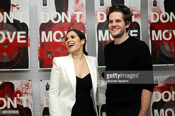 Actress America Ferrera and filmmaker/artist Ryan Piers Williams attend Ryan Piers Williams' 'Monsters And Landscapes' Exhibition Opening Reception...