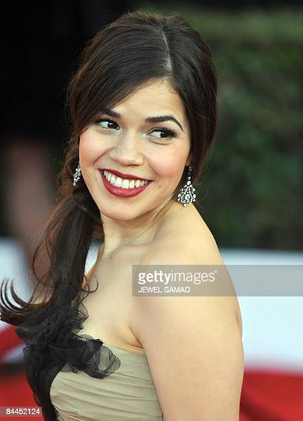 Actress America Ferrera arrives at the 15th Annual Screen Actors Guild Awards at the Shrine Auditorium in Los Angeles California on January 25 2009...