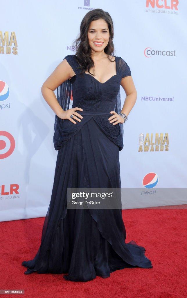 Actress America Ferrera arrives at the 2012 NCLR ALMA Awards at Pasadena Civic Auditorium on September 16, 2012 in Pasadena, California.
