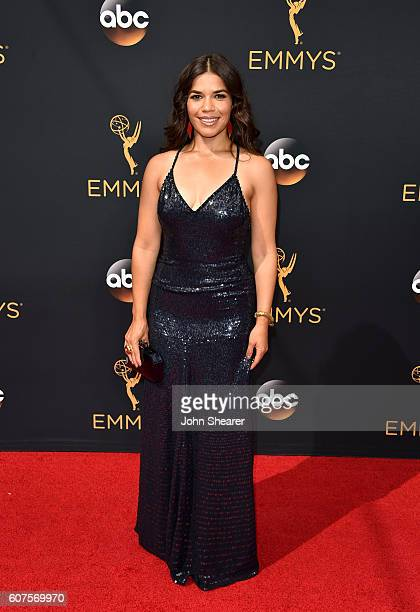 Actress America Ferrera arrives at the 68th Annual Primetime Emmy Awards at Microsoft Theater on September 18 2016 in Los Angeles California