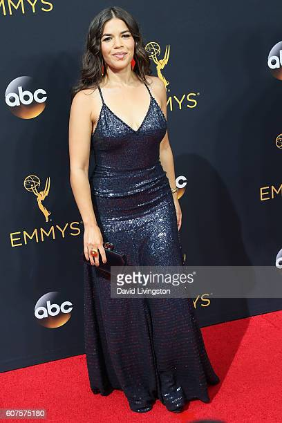 Actress America Ferrera arrives at the 68th Annual Primetime Emmy Awards at the Microsoft Theater on September 18 2016 in Los Angeles California