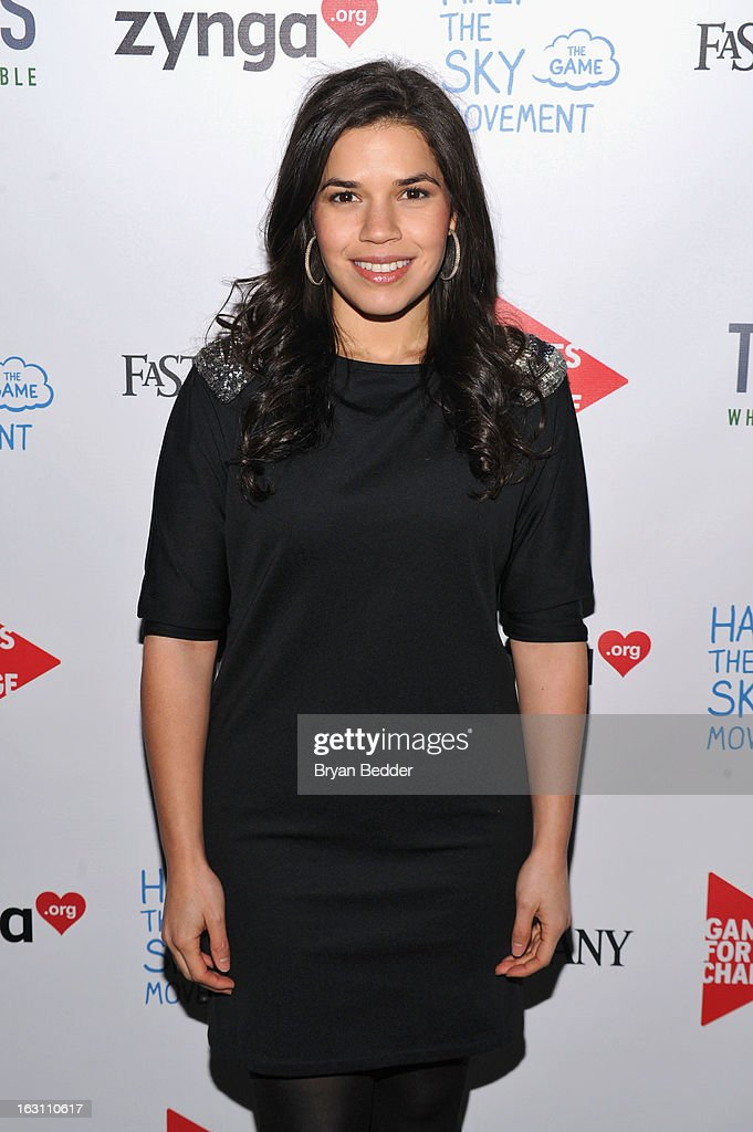 Actress America Ferrera attends Games For Change presents the launch of Half The Sky Movement: The Game at No. 8 on March 4, 2013 in New York City.