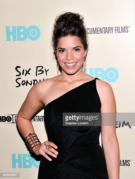 Actress America Ferrera attends HBO's New York Premiere of 'Six by Sondheim' at Museum of Modern Art on November 18 2013 in New York City