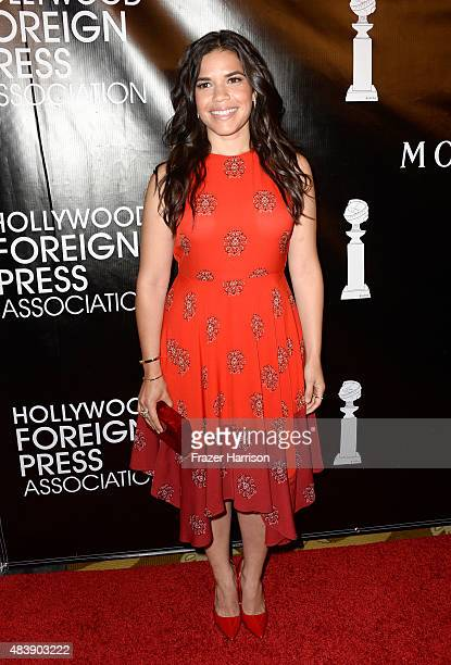 Actress America Ferrera attends HFPA Annual Grants Banquet at the Beverly Wilshire Four Seasons Hotel on August 13 2015 in Beverly Hills California