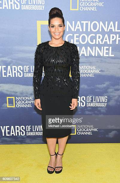Actress America Ferrera attends National Geographic's 'Years Of Living Dangerously' new season world premiere at the American Museum of Natural...