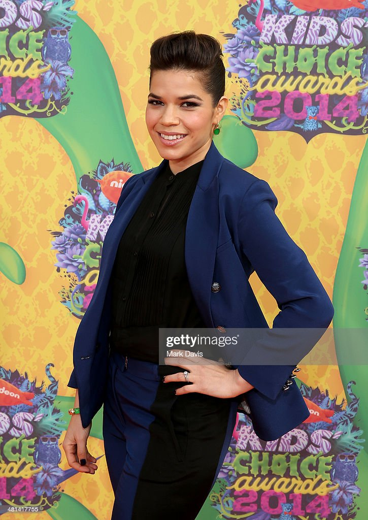 Actress America Ferrera attends Nickelodeon's 27th Annual Kids' Choice Awards held at USC Galen Center on March 29, 2014 in Los Angeles, California.