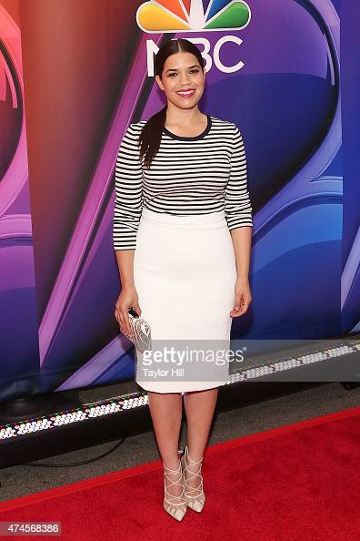 Actress America Ferrera attends the 2015 NBC Upfront Presentation Red Carpet Event at Radio City Music Hall on May 11 2015 in New York City
