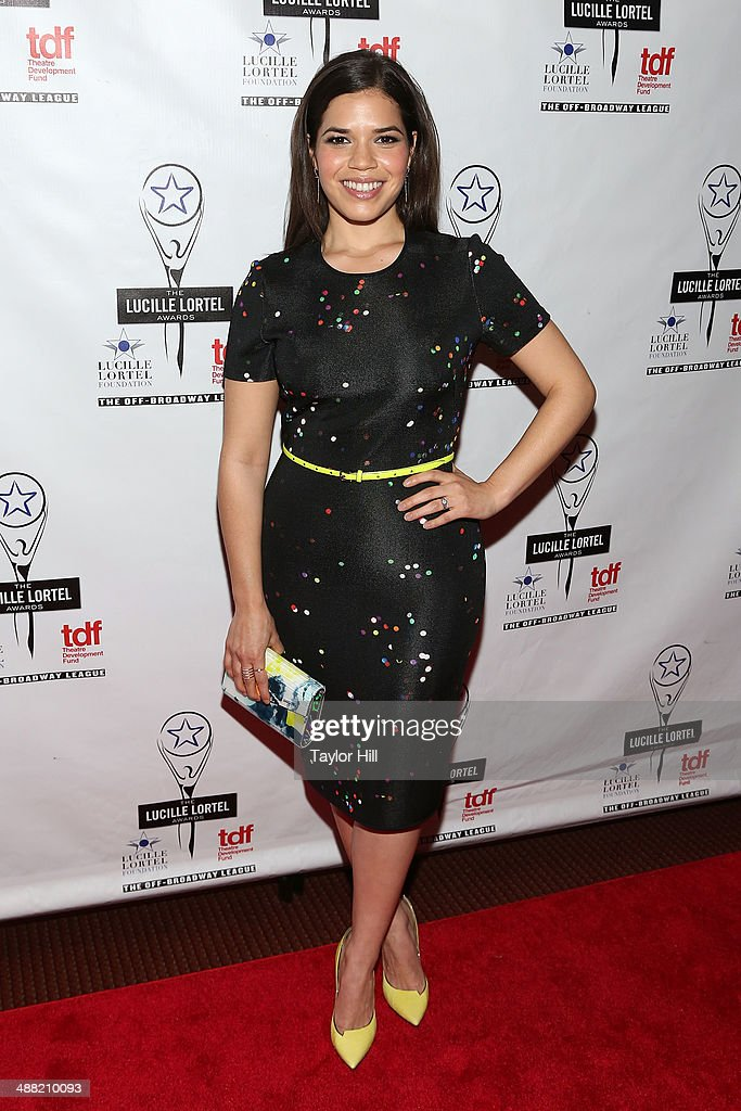 Actress <a gi-track='captionPersonalityLinkClicked' href=/galleries/search?phrase=America+Ferrera&family=editorial&specificpeople=216393 ng-click='$event.stopPropagation()'>America Ferrera</a> attends the 29th Annual Lucille Lortel Awards at NYU Skirball Center on May 4, 2014 in New York City.
