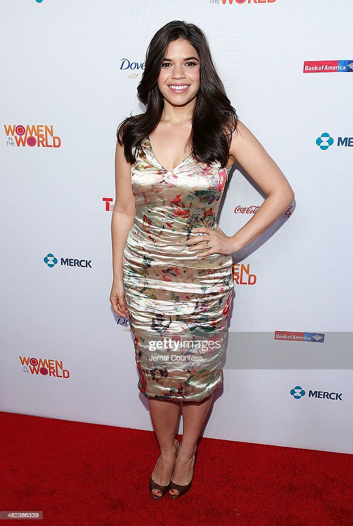 Actress <a gi-track='captionPersonalityLinkClicked' href=/galleries/search?phrase=America+Ferrera&family=editorial&specificpeople=216393 ng-click='$event.stopPropagation()'>America Ferrera</a> attends the 5th Annual Women In The World Summit at the David Koch Theatre at Lincoln Center on April 3, 2014 in New York City.