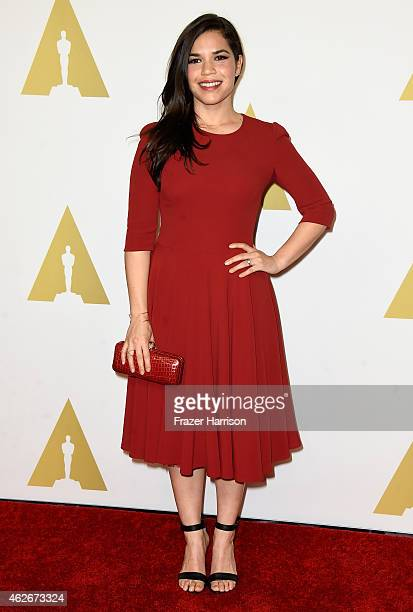 Actress America Ferrera attends the 87th Annual Academy Awards Nominee Luncheon at The Beverly Hilton Hotel on February 2 2015 in Beverly Hills...