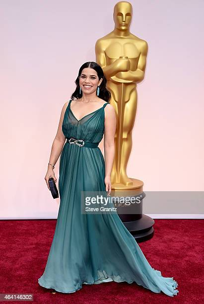 Actress America Ferrera attends the 87th Annual Academy Awards at Hollywood Highland Center on February 22 2015 in Hollywood California
