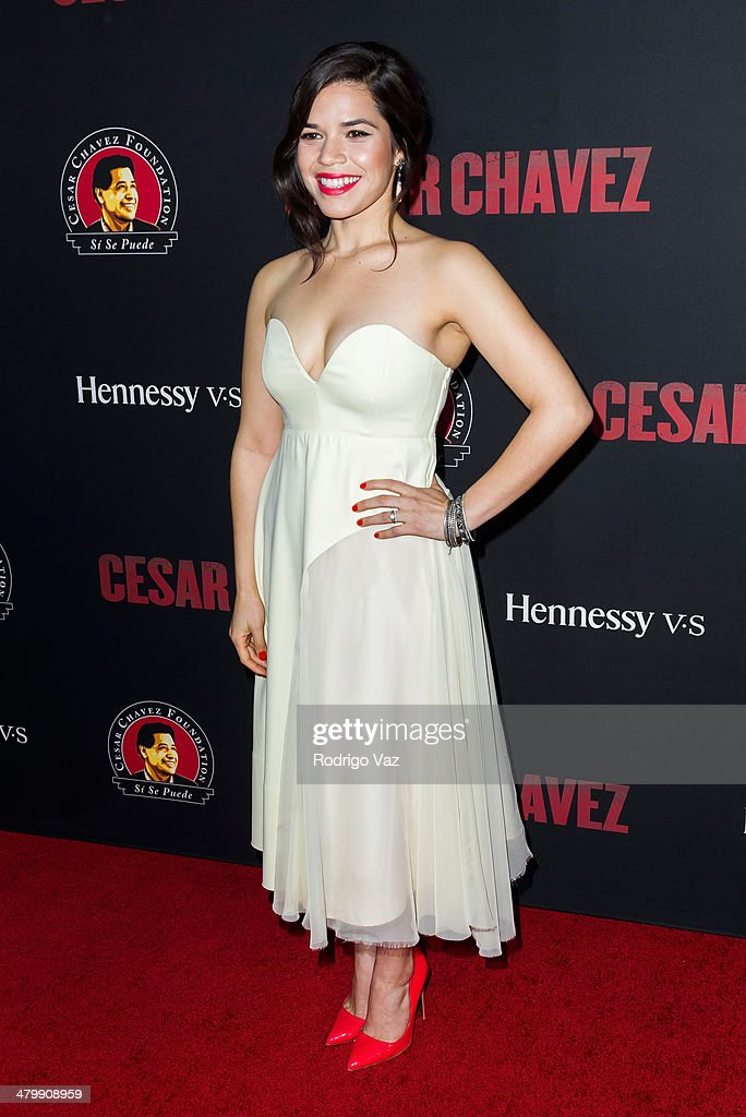 Actress America Ferrera attends the 'Cesar Chavez' Los Angeles Premiere at TCL Chinese Theatre on March 20, 2014 in Hollywood, California.