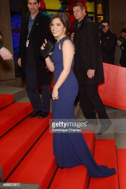 Actress America Ferrera attends the 'Cesar Chavez' premiere during 64th Berlinale International Film Festival at FriedrichstadtPalast on February 12...