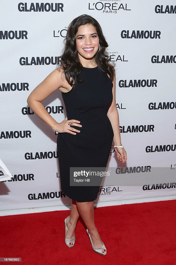 Actress <a gi-track='captionPersonalityLinkClicked' href=/galleries/search?phrase=America+Ferrera&family=editorial&specificpeople=216393 ng-click='$event.stopPropagation()'>America Ferrera</a> attends the Glamour Magazine 23rd annual Women Of The Year gala on November 11, 2013 in New York, United States.