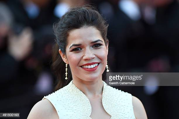 Actress America Ferrera attends the 'How To Train Your Dragon 2' premiere during the 67th Annual Cannes Film Festival on May 16 2014 in Cannes France