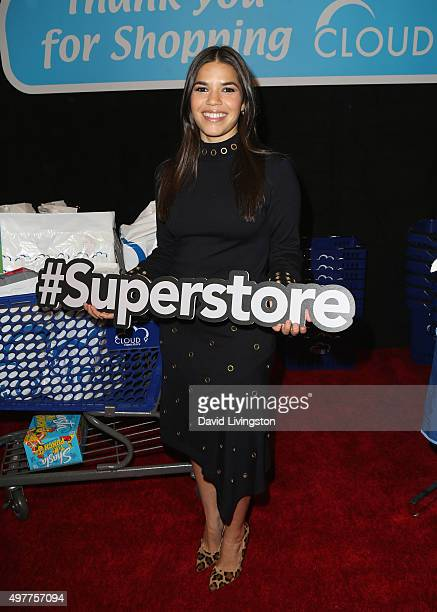 Actress America Ferrera attends the NBC Comedy Press Junket for 'Telenovela' and 'Superstore' at Universal Studios Hollywood on November 18 2015 in...