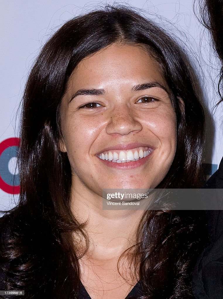 Actress <a gi-track='captionPersonalityLinkClicked' href=/galleries/search?phrase=America+Ferrera&family=editorial&specificpeople=216393 ng-click='$event.stopPropagation()'>America Ferrera</a> attends the Outfest Film Festival - Screenwriting Lab Reading at Directors Guild Of America on July 18, 2013 in Los Angeles, California.