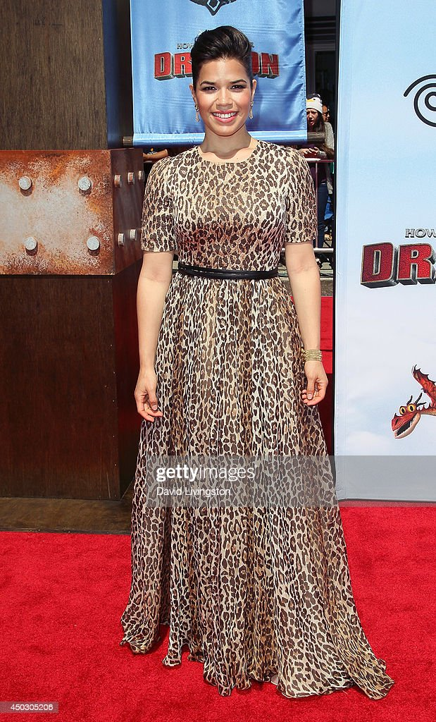 Actress America Ferrera attends the premiere of Twentieth Century Fox and DreamWorks Animation 'How to Train Your Dragon 2' at the Regency Village Theatre on June 8, 2014 in Westwood, California.