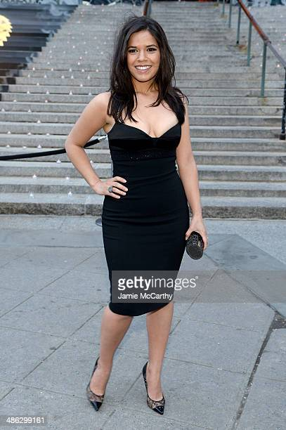 Actress America Ferrera attends the Vanity Fair Party during the 2014 Tribeca Film Festival at the State Supreme Courthouse on April 23 2014 in New...