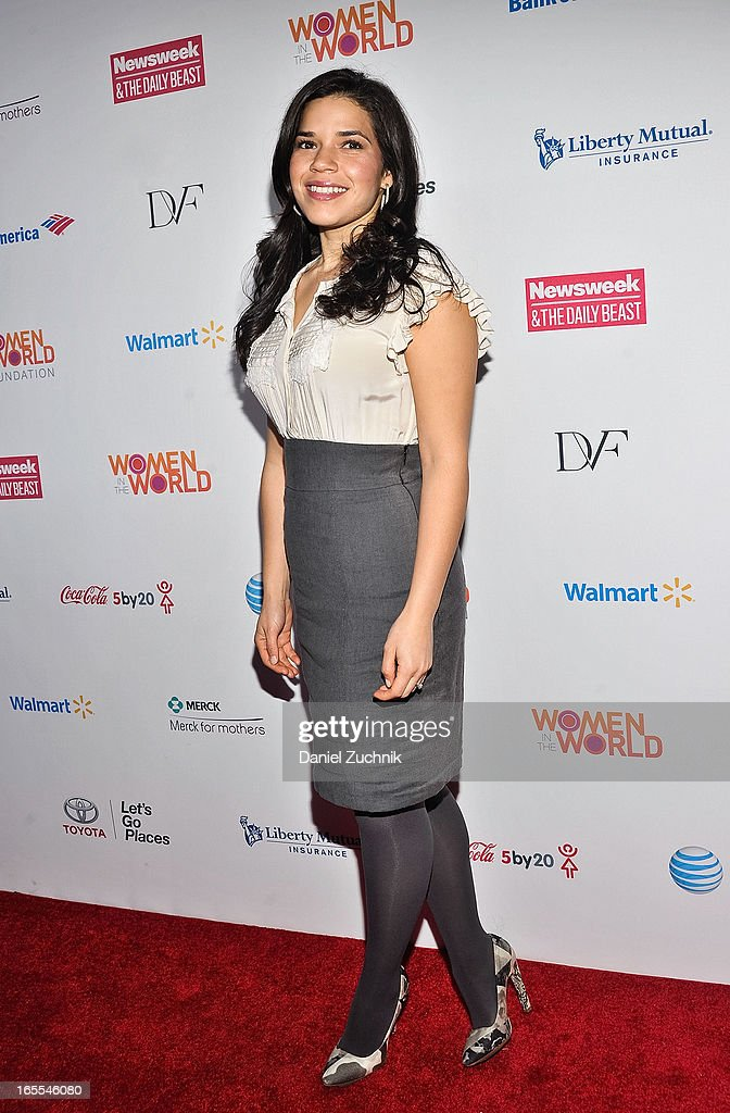 Actress America Ferrera attends the Women in the World Summit 2013 on April 4, 2013 in New York, United States.