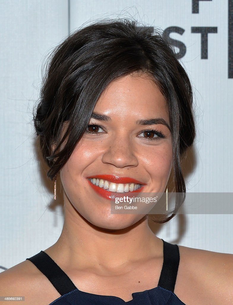 Actress America Ferrera attends the 'X/Y' Premiere during the 2014 Tribeca Film Festival at BMCC Tribeca PAC on April 19, 2014 in New York City.