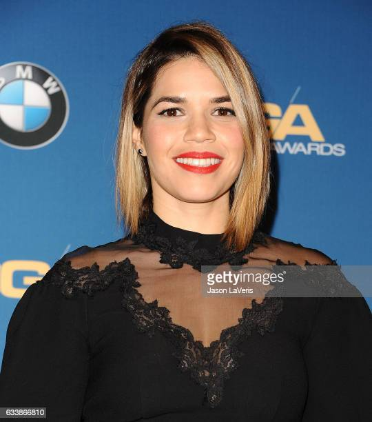 Actress America Ferrera poses in the press room at the 69th annual Directors Guild of America Awards at The Beverly Hilton Hotel on February 4 2017...