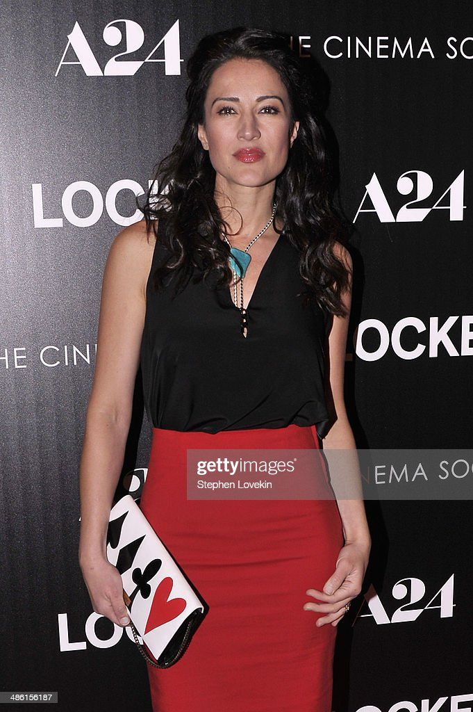 Actress America Olivo attends the A24 and The Cinema Society premiere of 'Locke' at The Paley Center for Media on April 22, 2014 in New York City.