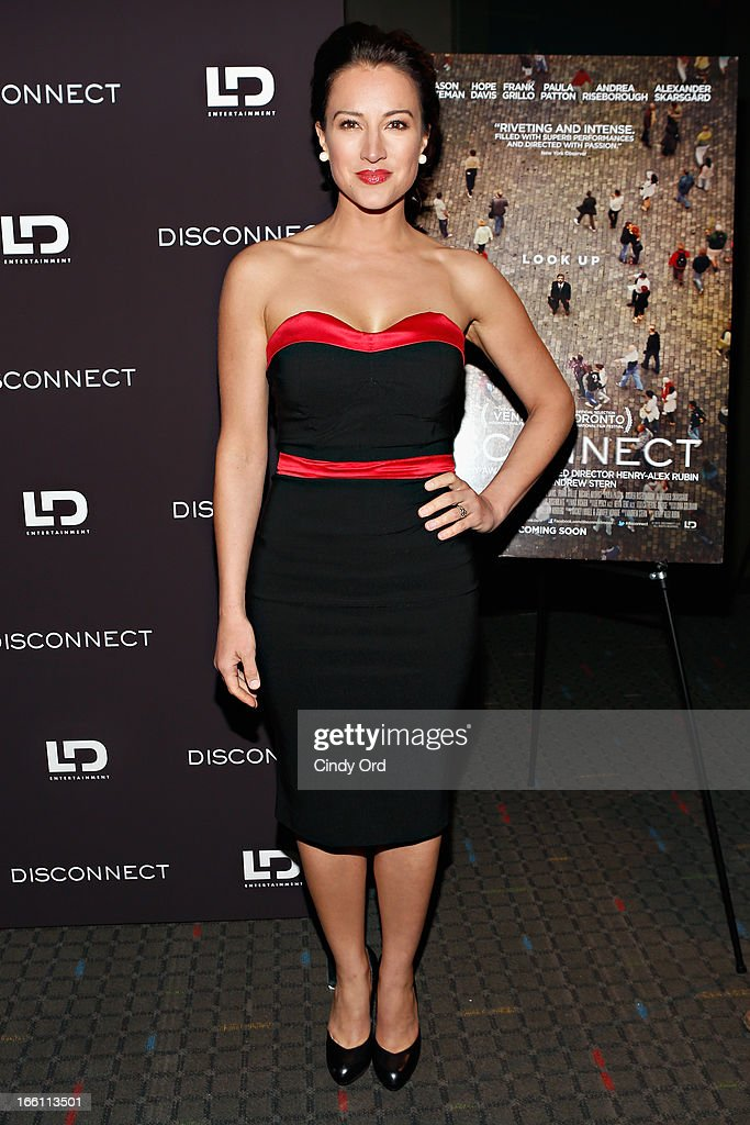Actress America Olivo attends the 'Disconnect' New York Special Screening at SVA Theater on April 8 2013 in New York City