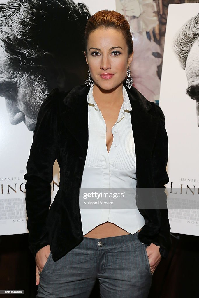 Actress America Olivo attends the special screening of Steven Spielberg's Lincoln at the Ziegfeld Theatre on November 14, 2012 in New York City.