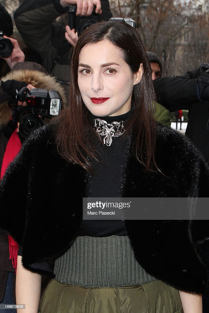 Actress Amira Casar arrives to attend the Chanel Spring/Summer 2013 Haute-Couture show as part of Paris Fashion Week at Grand Palais on January 22, 2013 in Paris, France.