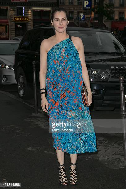 Actress Amira Casar arrives to attend the Dior Private Dinner as part of Paris Fashion Week Haute Couture Fall/Winter 20142015 at on July 7 2014 in...