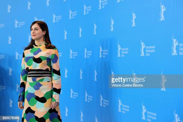 Actress Amira Casar attends the 'Call Me by Your Name' photo call during the 67th Berlinale International Film Festival Berlin at Grand Hyatt Hotel...