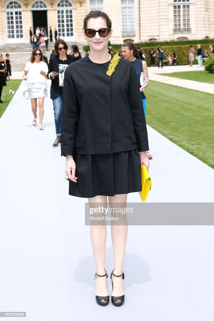 Actress Amira Casar attends the Christian Dior show as part of Paris Fashion Week - Haute Couture Fall/Winter 2014-2015. Held at Musee Rodin on July 7, 2014 in Paris, France.