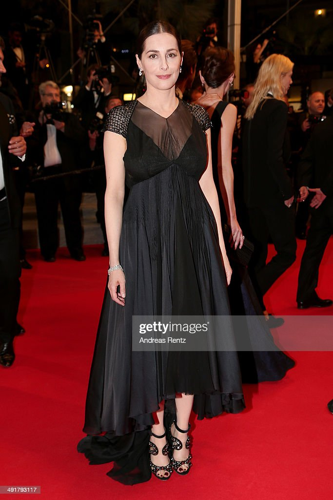 Actress Amira Cesar leaves the 'Saint Laurent' premiere during the 67th Annual Cannes Film Festival on May 17, 2014 in Cannes, France.