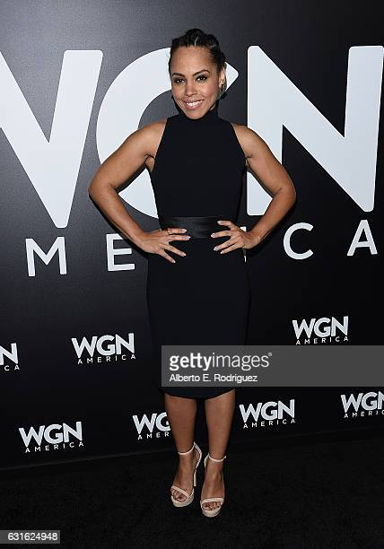 Actress Amirah Vann attends the photo call for WGN America's 'Underground' and 'Outsiders' at The Langham Hotel on January 13 2017 in Pasadena...