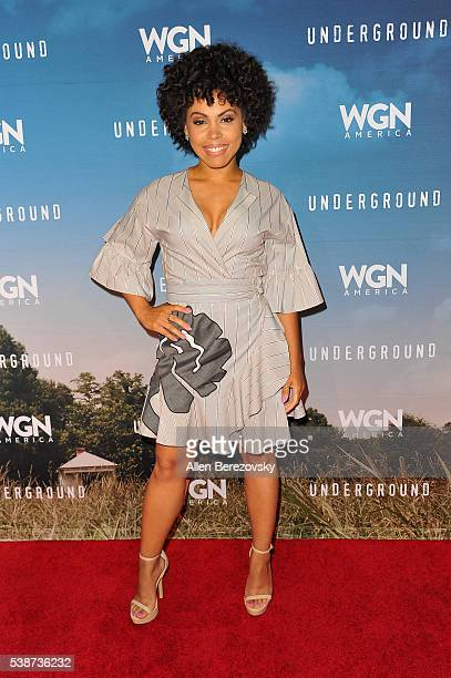 Actress Amirah Vann attends the screening and panel for WGN America's 'Underground' at Landmark Theatre on June 7 2016 in Los Angeles California
