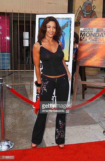 Actress Amparo Grisales arrives at the Los Angeles Premiere of 'Mondays in the Sun' screened as part of the 7th Los Angeles Latino International Film...