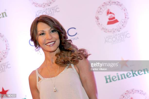 Actress Amparo Grisales attends the Latin GRAMMY Acoustic Session at Country Club de Bogota on August 21 2013 in Bogota Colombia