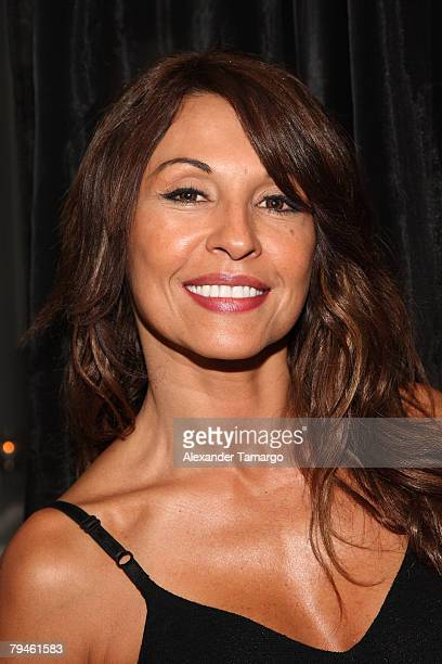 Actress Amparo Grisales poses during Leonardo Rocco's birthday celebration at Dolores But You Can Call Me Lolita January 31 2008 in Miami Florida