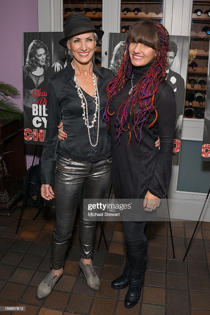 Actress Amra-Faye Wright (L) and daughter attend the post show celebration for Billy Ray Cyrus' Broadway debut in 'Chicago' at Victor's Cafe on November 5, 2012 in New York City.