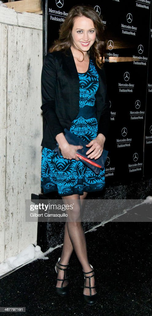 Actress <a gi-track='captionPersonalityLinkClicked' href=/galleries/search?phrase=Amy+Acker&family=editorial&specificpeople=715944 ng-click='$event.stopPropagation()'>Amy Acker</a> attends Fall 2014 Mercedes - Benz Fashion Week on February 7, 2014 in New York City.